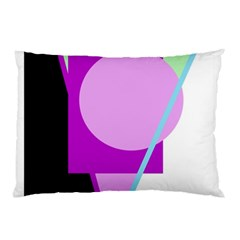 Purple Geometric Design Pillow Case by Valentinaart