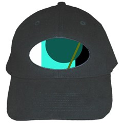 Geometric Abstract Design Black Cap by Valentinaart