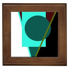 Geometric Abstract Design Framed Tiles by Valentinaart
