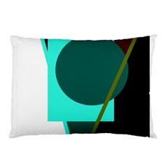 Geometric Abstract Design Pillow Case by Valentinaart