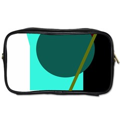 Geometric Abstract Design Toiletries Bags 2 Side by Valentinaart