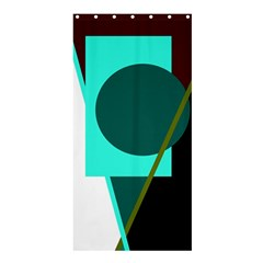 Geometric Abstract Design Shower Curtain 36  X 72  (stall)  by Valentinaart