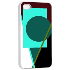 Geometric Abstract Design Apple Iphone 4/4s Seamless Case (white) by Valentinaart