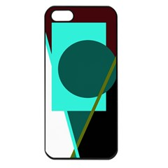 Geometric Abstract Design Apple Iphone 5 Seamless Case (black) by Valentinaart