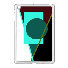 Geometric Abstract Design Apple Ipad Mini Case (white) by Valentinaart
