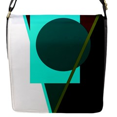 Geometric Abstract Design Flap Messenger Bag (s) by Valentinaart