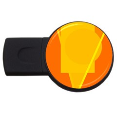Orange Abstract Design Usb Flash Drive Round (2 Gb)  by Valentinaart