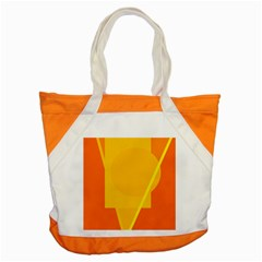Orange Abstract Design Accent Tote Bag by Valentinaart