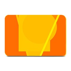 Orange Abstract Design Plate Mats by Valentinaart