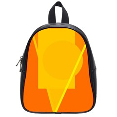 Orange Abstract Design School Bags (small)  by Valentinaart