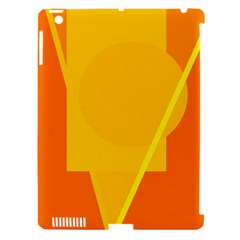 Orange Abstract Design Apple Ipad 3/4 Hardshell Case (compatible With Smart Cover) by Valentinaart