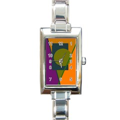 Geometric Abstraction Rectangle Italian Charm Watch by Valentinaart