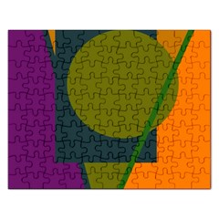 Geometric Abstraction Rectangular Jigsaw Puzzl by Valentinaart