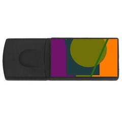 Geometric Abstraction Usb Flash Drive Rectangular (4 Gb)  by Valentinaart