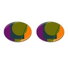 Geometric Abstraction Cufflinks (oval) by Valentinaart