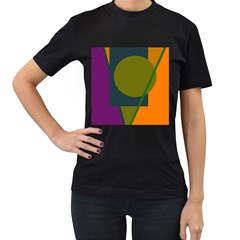 Geometric Abstraction Women s T-shirt (black) by Valentinaart