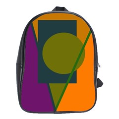 Geometric Abstraction School Bags(large)  by Valentinaart