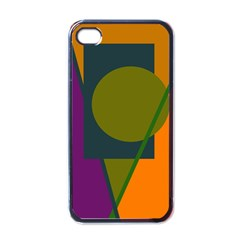 Geometric Abstraction Apple Iphone 4 Case (black) by Valentinaart