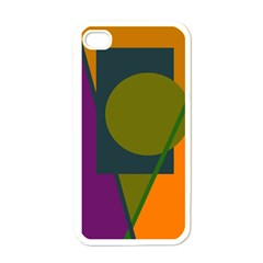 Geometric Abstraction Apple Iphone 4 Case (white) by Valentinaart