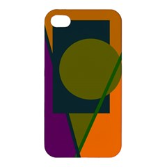 Geometric Abstraction Apple Iphone 4/4s Premium Hardshell Case by Valentinaart