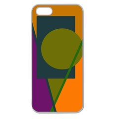 Geometric Abstraction Apple Seamless Iphone 5 Case (clear) by Valentinaart