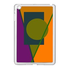 Geometric Abstraction Apple Ipad Mini Case (white) by Valentinaart