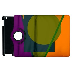 Geometric Abstraction Apple Ipad 3/4 Flip 360 Case by Valentinaart