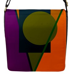 Geometric Abstraction Flap Messenger Bag (s)