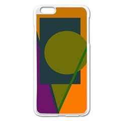 Geometric Abstraction Apple Iphone 6 Plus/6s Plus Enamel White Case by Valentinaart