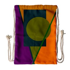 Geometric Abstraction Drawstring Bag (large) by Valentinaart