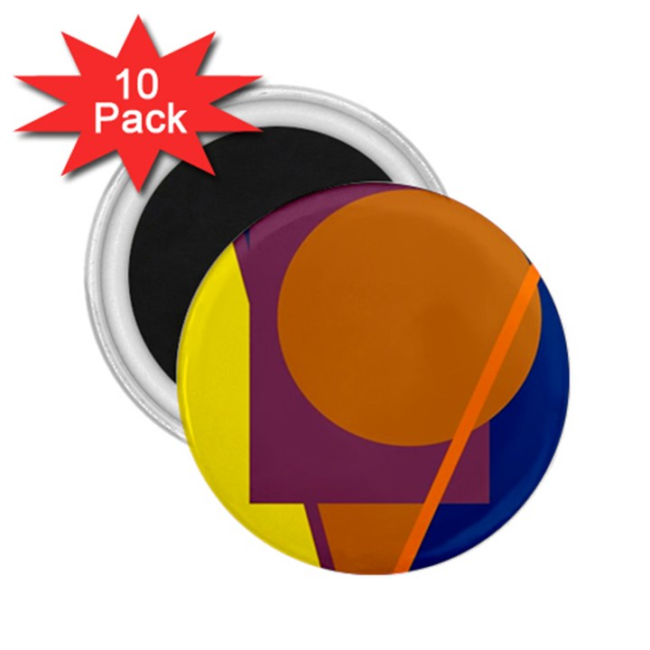 Geometric abstract desing 2.25  Magnets (10 pack)