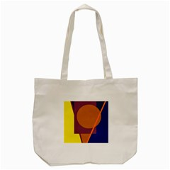 Geometric Abstract Desing Tote Bag (cream) by Valentinaart