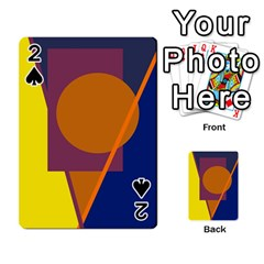 Geometric Abstract Desing Playing Cards 54 Designs  by Valentinaart