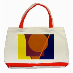 Geometric Abstract Desing Classic Tote Bag (red) by Valentinaart