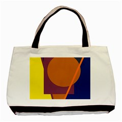 Geometric Abstract Desing Basic Tote Bag (two Sides) by Valentinaart