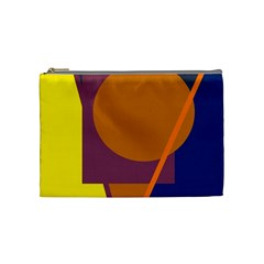 Geometric Abstract Desing Cosmetic Bag (medium)  by Valentinaart