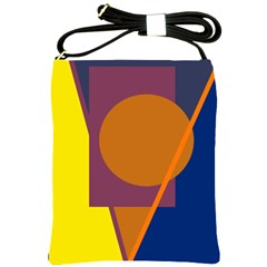 Geometric Abstract Desing Shoulder Sling Bags by Valentinaart