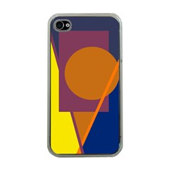 Geometric Abstract Desing Apple Iphone 4 Case (clear) by Valentinaart