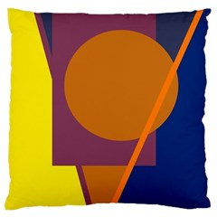 Geometric Abstract Desing Standard Flano Cushion Case (two Sides) by Valentinaart