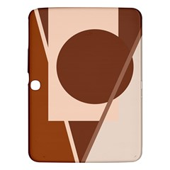 Brown Geometric Design Samsung Galaxy Tab 3 (10 1 ) P5200 Hardshell Case  by Valentinaart