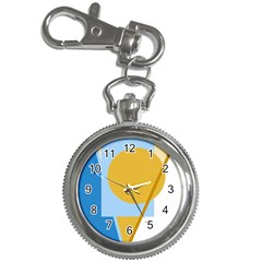 Blue And Yellow Abstract Design Key Chain Watches by Valentinaart