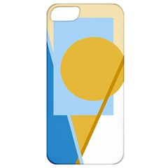 Blue And Yellow Abstract Design Apple Iphone 5 Classic Hardshell Case by Valentinaart