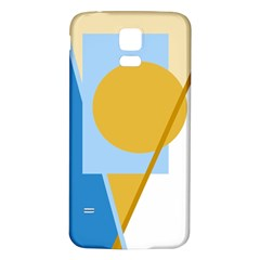 Blue And Yellow Abstract Design Samsung Galaxy S5 Back Case (white) by Valentinaart