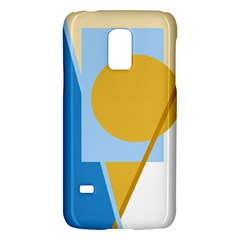 Blue And Yellow Abstract Design Galaxy S5 Mini by Valentinaart