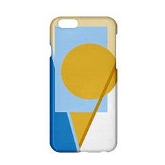 Blue And Yellow Abstract Design Apple Iphone 6/6s Hardshell Case by Valentinaart