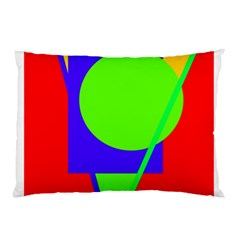 Colorful Geometric Design Pillow Case by Valentinaart