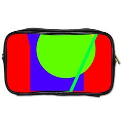 Colorful Geometric Design Toiletries Bags 2 Side by Valentinaart