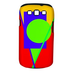Colorful Geometric Design Samsung Galaxy S Iii Classic Hardshell Case (pc+silicone) by Valentinaart