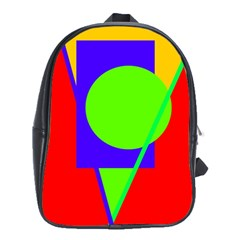 Colorful Geometric Design School Bags (xl)  by Valentinaart