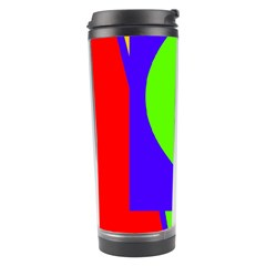 Colorful Geometric Design Travel Tumbler by Valentinaart